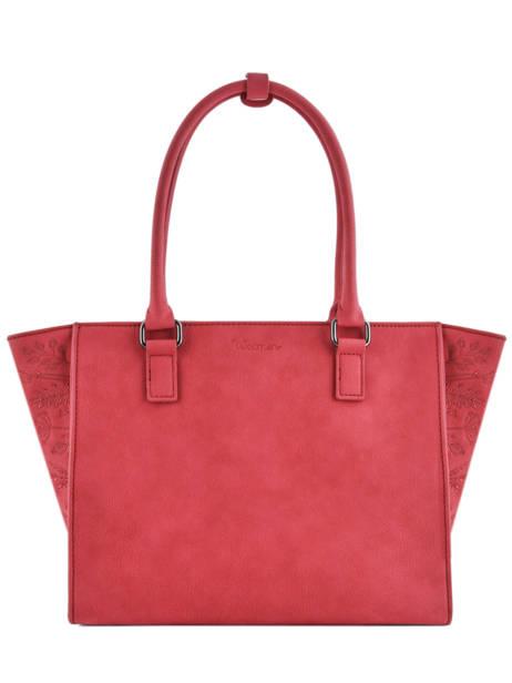 Sac Shopping Hibiscus Woomen Rouge hibiscus WHIBI05