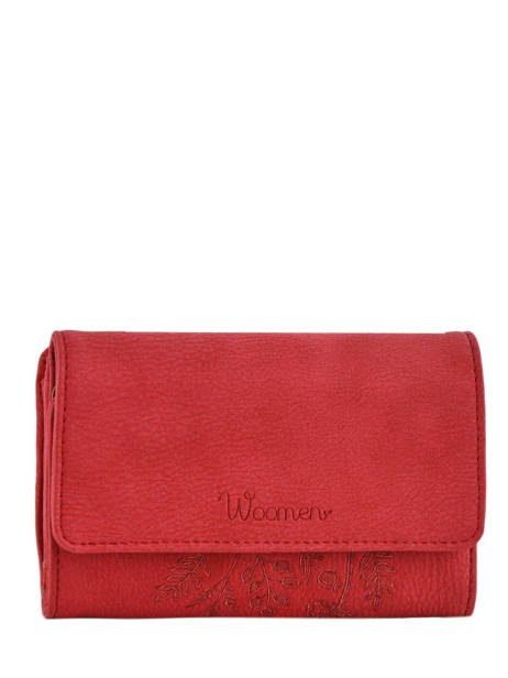 Porte-monnaie Woomen Rouge hibiscus WHIBI92