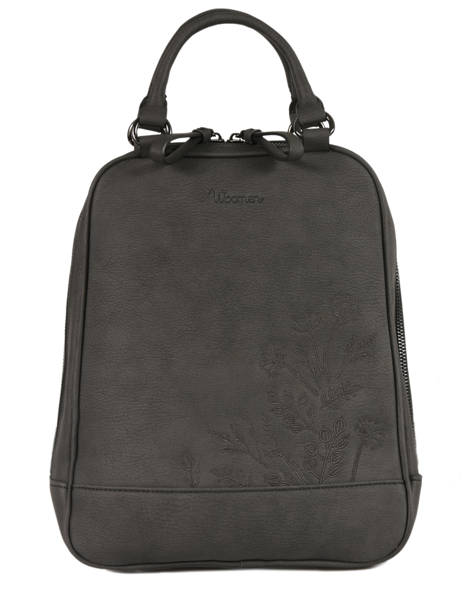 Backpack Woomen Black hibiscus WHIBI01