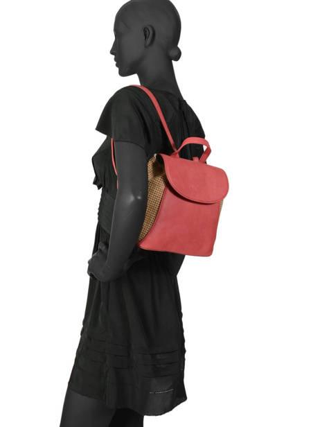 Backpack Abelia Woomen Red abelia WABEL06 other view 3