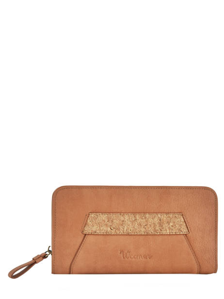 Wallet Woomen Brown orchidee WORCH91