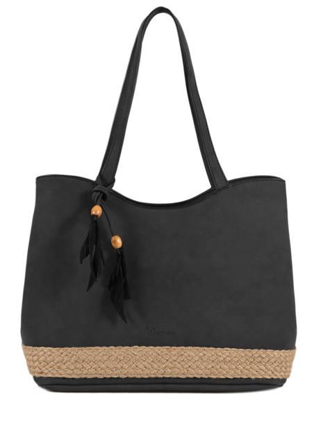Sac Shopping Anemone Woomen Noir anemone WANE03