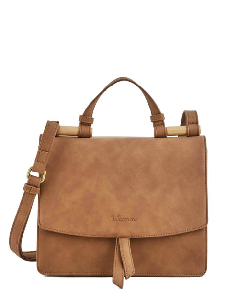 Shoulder Bag Coquelicot Woomen Brown coquelicot WCOQ01