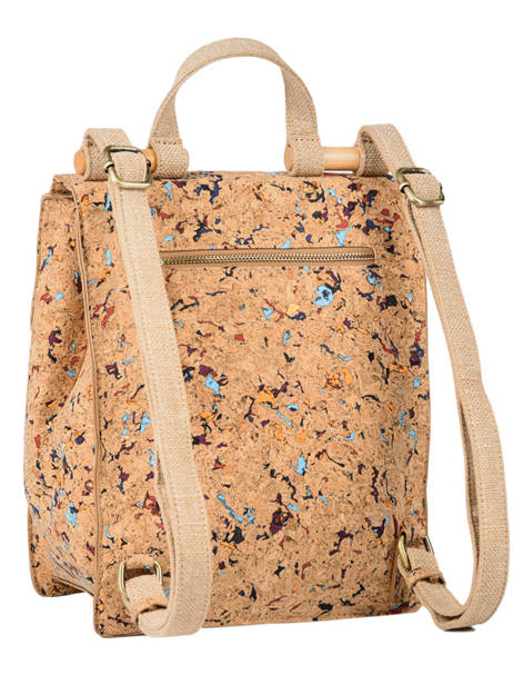Backpack Coquelicot Woomen Beige coquelicot WCOL02 other view 3