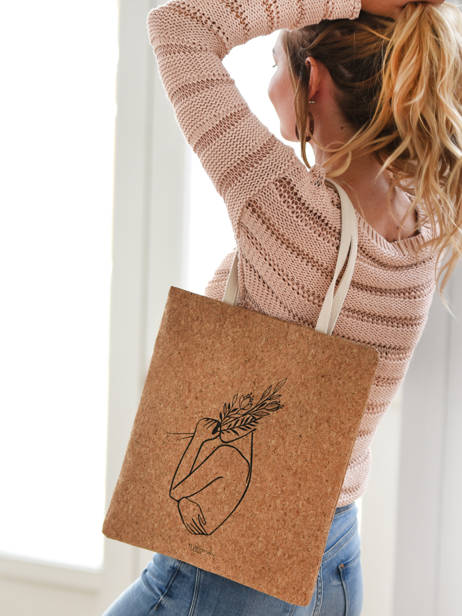 Shoulder Bag Lilas Woomen Beige lilas WLILA02 other view 2