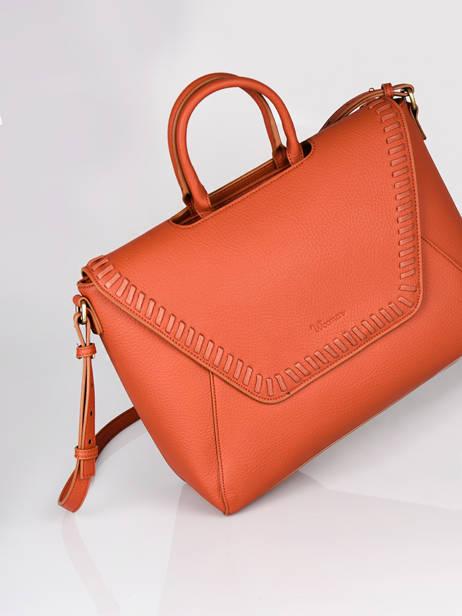 Briefcase Woomen Orange glaieul WGLA81 other view 3