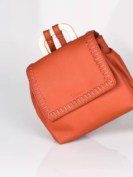 Backpack Woomen Orange glaieul WGLA06 other view 2