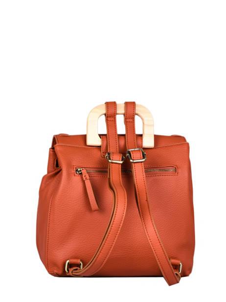 Backpack Woomen Orange glaieul WGLA06 other view 3