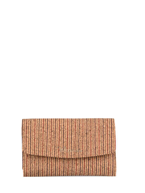 Compact Wallet Coquelicot Woomen Beige coquelicot WCOL91