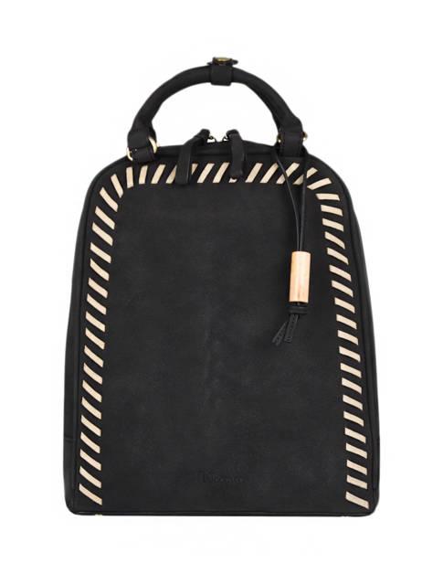 Backpack Woomen Black nenuphar WNEN02