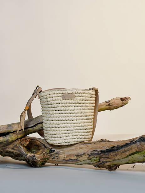 Shoulder Bag Epis Straw Woomen Beige epis WEPIS04