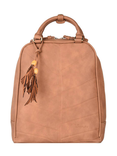 Backpack Woomen Brown nervure WNER02
