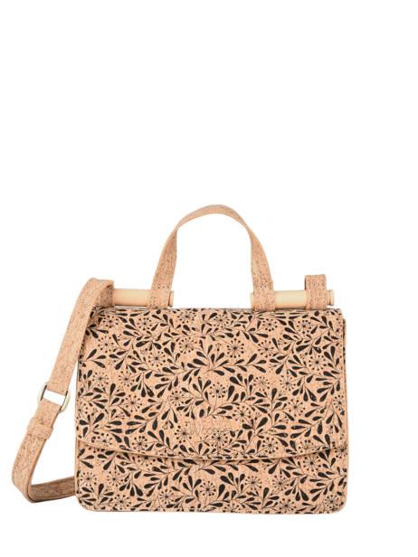 Shoulder Bag Coquelicot Cork Woomen Black coquelicot WCOL11