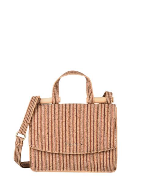 Shoulder Bag Coquelicot Cork Woomen Beige coquelicot WCOL11