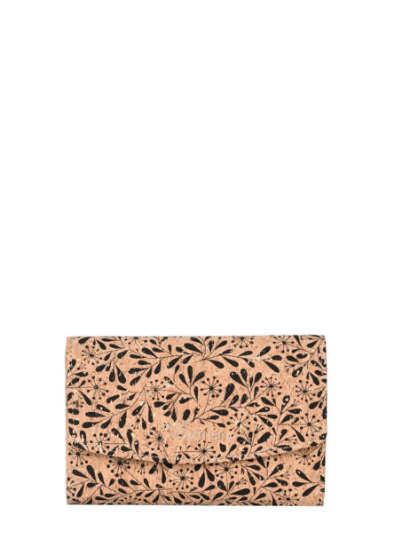 Compact Wallet Coquelicot Woomen Black coquelicot WCOL91