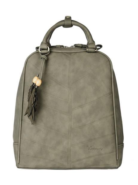 Backpack Woomen Green nervure WNER02