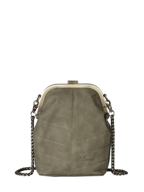 Shoulder Bag Nervure Woomen Brown nervure WNER04